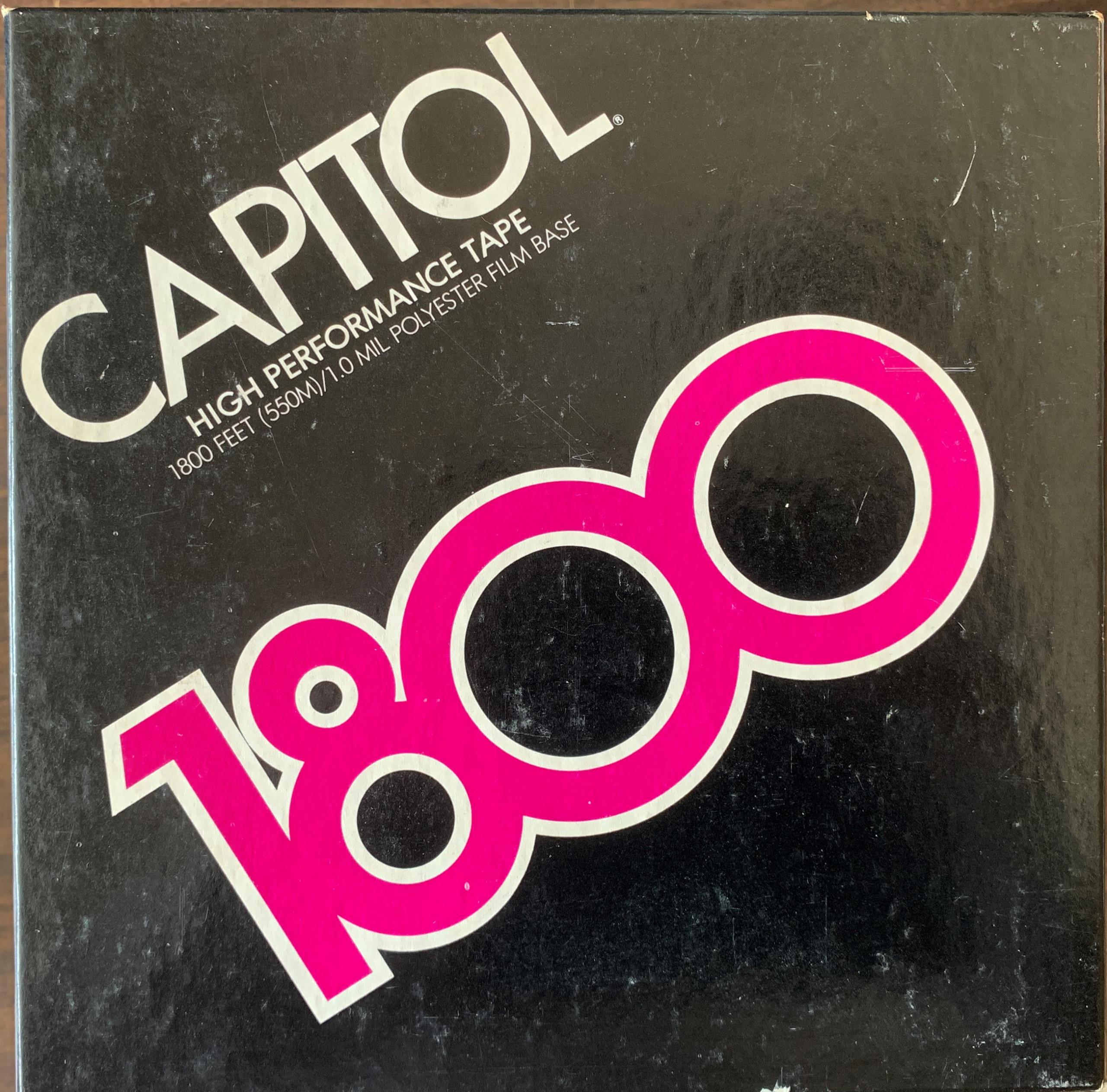 Capitol-Audiotape-HP-1800-7-in-Reel-Tape-Box